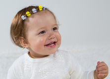 Portrait of a young girl who smiles Royalty Free Stock Image
