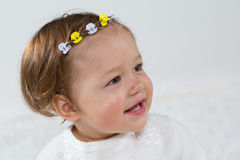 Portrait of a young girl who smiles Royalty Free Stock Photography