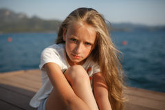 The portrait of the young girl Royalty Free Stock Images