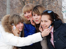 Portrait of the young girls Royalty Free Stock Photos