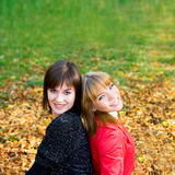 Portrait young girls outdoor Royalty Free Stock Photo