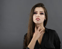 Portrait of young glamour beautiful halloween woman Stock Photography