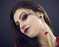 portrait of young glamour beautiful halloween woman Royalty Free Stock Images