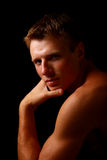 Portrait of young good looking male model Royalty Free Stock Images