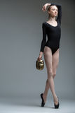 Portrait of the young graceful ballerina Stock Photo