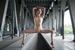 Portrait of young and graceful ballerina Royalty Free Stock Image