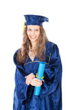 Portrait of young graduate student Royalty Free Stock Image