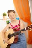 Portrait of young guitar player Royalty Free Stock Photos
