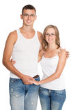 Portrait of young guy and girl Royalty Free Stock Photography