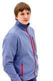 Portrait of a young guy in a jacket Royalty Free Stock Photography