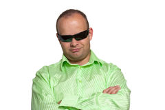 Portrait of young guy with sunglasses Royalty Free Stock Image