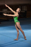 Portrait of young gymnasts competing in the stadium Stock Images