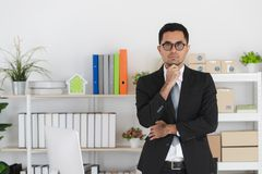 Young business man at work stock photo