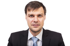 Portrait of a young handsome businessman isolated Royalty Free Stock Photos