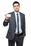 Portrait of young handsome businessman. Stock Images