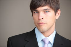 Portrait of a young handsome confident. Businessman Stock Photography