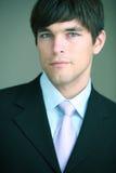 Portrait of a young handsome confident. Businessman (color toned image Stock Images