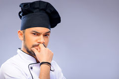 Portrait of young handsome cook Royalty Free Stock Image