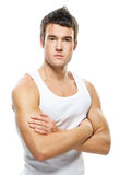 Portrait of young handsome man Stock Image