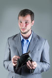 Portrait of young handsome man holding empty Royalty Free Stock Images