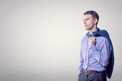 Portrait of a young handsome man looking ahead Stock Images