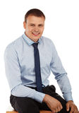 Portrait of a young handsome man in a representative strict clot Stock Image