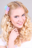 Portrait of a young happy attractive girl Royalty Free Stock Images