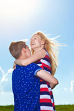 Portrait of young happy beautiful couple Royalty Free Stock Photos