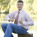 Portrait of young happy business man Royalty Free Stock Photography