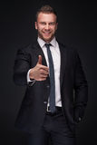 Portrait of young happy businessman Royalty Free Stock Photo