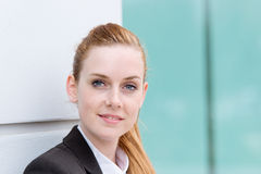 Portrait Of Young Happy Businesswoman Royalty Free Stock Photography