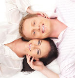 Portrait of a young and happy Caucasian couple Stock Photo