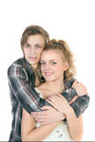 Portrait of young happy caucasian couple Royalty Free Stock Images