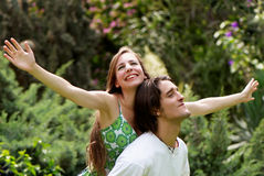 Portrait of young, happy couple Stock Image