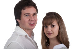 Portrait of a young happy couple Stock Image