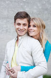 Portrait of a young happy couple in love Stock Images