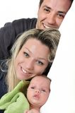 Portrait of a young happy family Stock Image