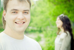 Portrait of a young happy man Royalty Free Stock Photos
