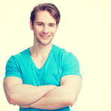Portrait of young happy man. Royalty Free Stock Photography