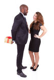 Portrait of a young happy mixed couple Royalty Free Stock Photos