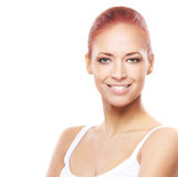 Portrait of a young and happy redhead woman Royalty Free Stock Image