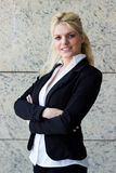 Portrait of young happy smiling businesswoman Stock Photo