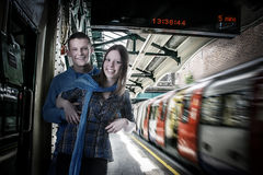 Underground couple Royalty Free Stock Images
