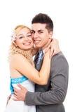 Young wedding couple portrait Stock Photo
