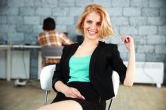 Portrait of a young happy woman Stock Photo