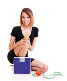 Portrait young healthy woman dieting concept Stock Photography