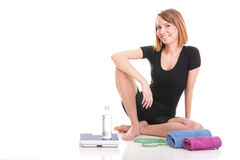 Portrait young healthy woman dieting concept Royalty Free Stock Photography