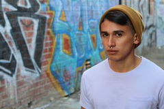 Portrait of a young hip hispanic guy - Stock image.  royalty free stock images