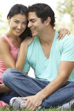 Portrait Of Young Hispanic Couple In Park Royalty Free Stock Images