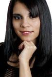 Portrait of a Young Hispanic Female. Beautul young Hispanic female posing on white background Royalty Free Stock Photos